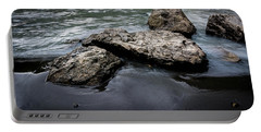 Rocks In The River Portable Battery Charger by Andrew Matwijec