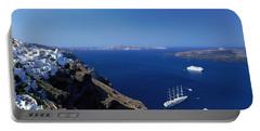 Santorini Greece Portable Battery Charger