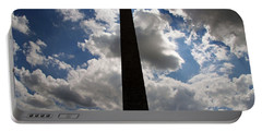 Portable Battery Charger featuring the photograph Silhouette Of The Washington Monument by Cora Wandel