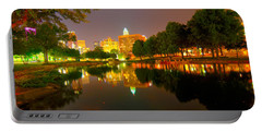 Portable Battery Charger featuring the photograph Skyline Of Uptown Charlotte North Carolina At Night by Alex Grichenko