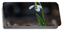 Snowdrop Flower Portable Battery Charger
