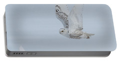 Portable Battery Charger featuring the photograph Snowy Owl #3/3 by Patti Deters