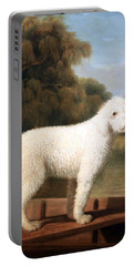 Stubbs' White Poodle In A Punt Portable Battery Charger by Cora Wandel