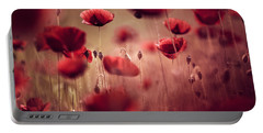 Red Poppy Portable Battery Chargers