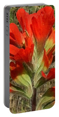Texas Paintbrush Portable Battery Charger by Ellen Henneke