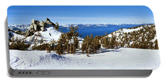 Trees On A Snow Covered Landscape Portable Battery Charger
