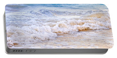 Waves Breaking On Tropical Shore Portable Battery Charger