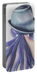Portable Battery Charger featuring the painting What Lies Ahead Series by Chrisann Ellis