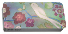 White Doves Portable Battery Charger