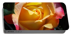 Yellow Rose Portable Battery Charger by Catherine Gagne