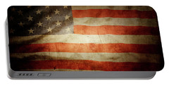 American Flag Rippled Portable Battery Charger