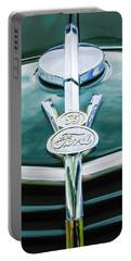 1937 Ford Pickup Truck V8 Emblem Portable Battery Charger