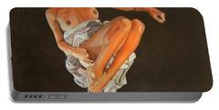 Portable Battery Charger featuring the painting 4 30 Am by Thu Nguyen
