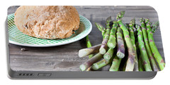 Asparagus Portable Battery Charger by Tom Gowanlock