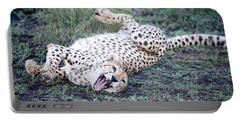 Cheetah Acinonyx Jubatus Resting Portable Battery Charger
