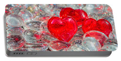 Crystal Heart Portable Battery Charger