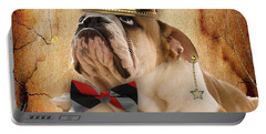 English Bulldog Bowtie Collection Portable Battery Charger