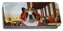 French Bulldog Art Canvas Print Portable Battery Charger