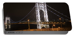 George Washington Bridge On President's Day Portable Battery Charger