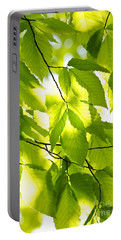 Green Spring Leaves Portable Battery Charger