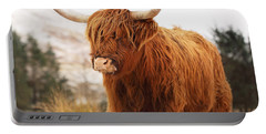 Highland Cow Portable Battery Charger