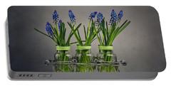 Hyacinth Still Life Portable Battery Charger by Nailia Schwarz