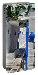 Kastro Village In Sifnos Island Portable Battery Charger