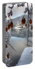 Lake Bohinj In Winter Portable Battery Charger