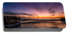 4 Mile Beach Sunset Portable Battery Charger by Linda Villers