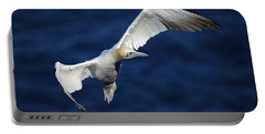 Northern Gannet In Flight Portable Battery Charger
