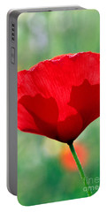 Poppy Flower Portable Battery Charger by George Atsametakis