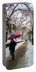 Snowfall In Central Park Portable Battery Charger