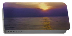 View Of Sunset Through Clouds Portable Battery Charger