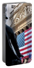 Wall Street Flag Portable Battery Charger by Brian Jannsen