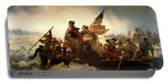 Portable Battery Charger featuring the photograph Washington Crossing The Delaware by Emanuel Leutze