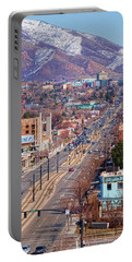 Portable Battery Charger featuring the photograph 400 S Salt Lake City by Ely Arsha