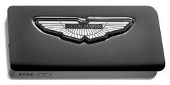 Aston Martin Emblem Portable Battery Charger by Jill Reger