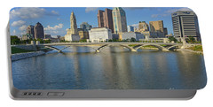 Fx1l-802 Columbus Ohio Skyline Photo Portable Battery Charger