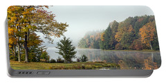 Foggy Fall Morning Portable Battery Charger