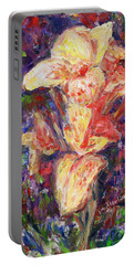 Portable Battery Charger featuring the painting First Lady by Xueling Zou