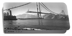 Golden Gate Bridge Portable Battery Charger by Underwood Archives