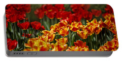Red And Yellow Tulips Portable Battery Charger by Nailia Schwarz
