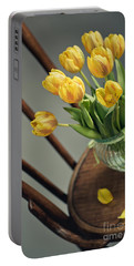 Still Life With Yellow Tulips Portable Battery Charger