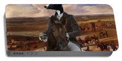 Whippet  Art Canvas Print Portable Battery Charger