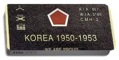 5th Regimental Combat Team Arlington Cemetary Memorial Portable Battery Charger