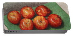 6 Apples Washed And Waiting Portable Battery Charger by Marna Edwards Flavell