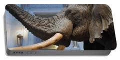 Bull Elephant In Natural History Rotunda Portable Battery Charger
