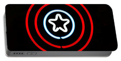 Captain America Portable Battery Charger by Kelly Awad