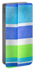 Striped Material Portable Battery Charger