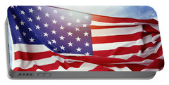 American Flag 55 Portable Battery Charger